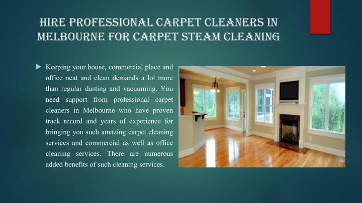 Hire Professional Carpet Cleaners in