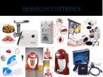 shop online electronics