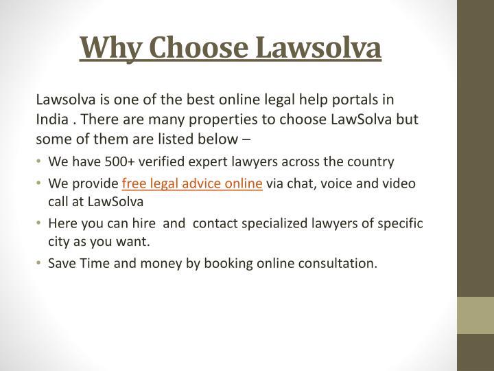 Why choose lawsolva