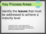 key process areas