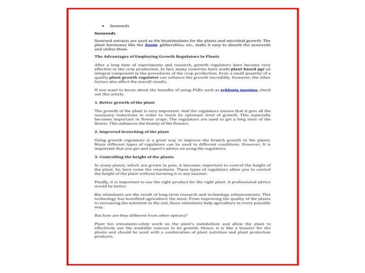 Get best plant bio stimulants ecklonia maxima plant growth regulator at competitive prices