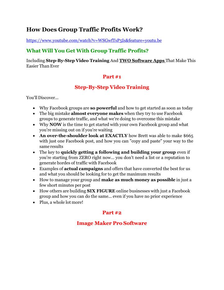 How Does Group Traffic Profits