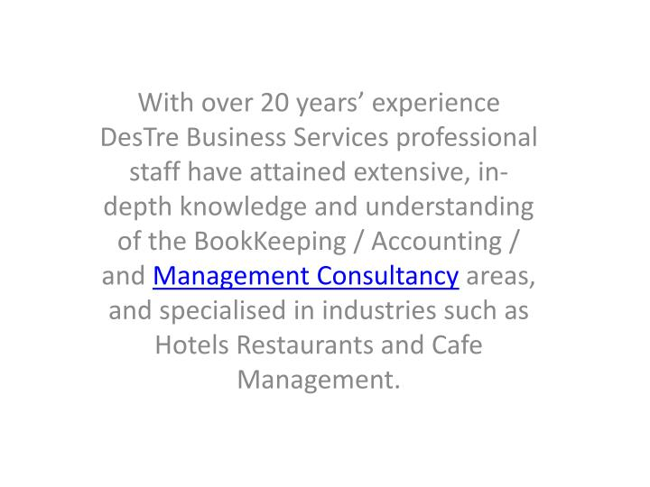 With over 20 years' experience
