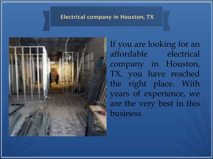 Electrical company in Houston, TX