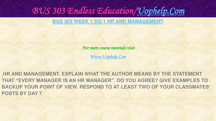 Bus 303 endless education uophelp com2