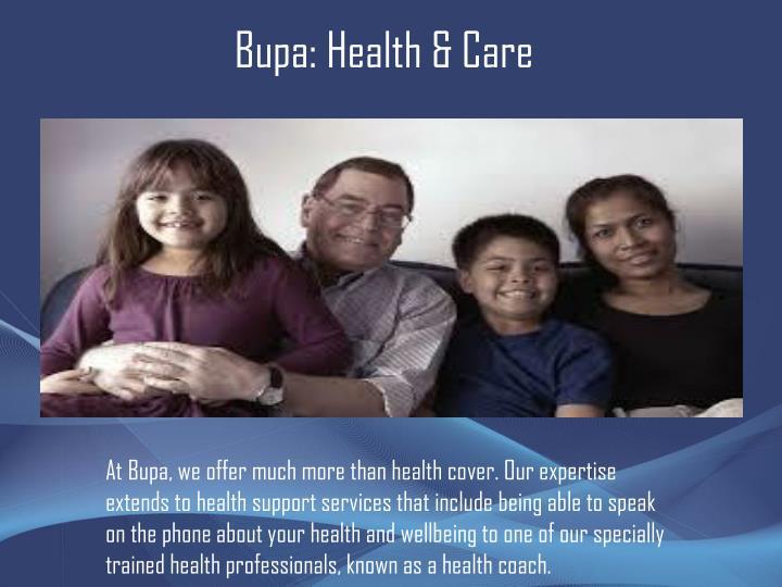 Bupa: Health & Care