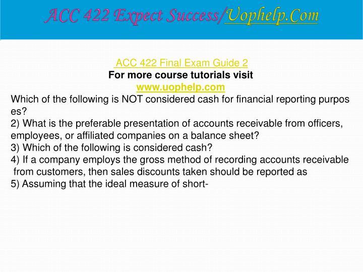 ACC 422 Expect Success/