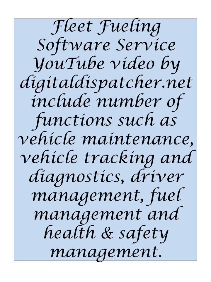 Fleet Fueling Software