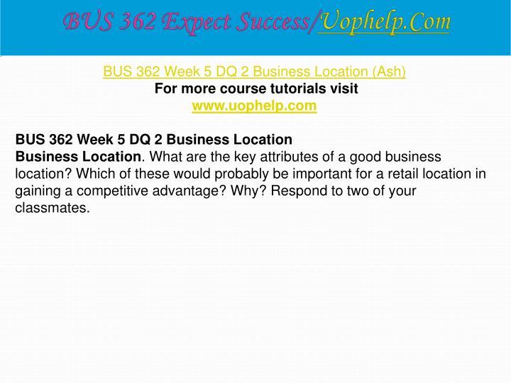 BUS 362 Expect Success/