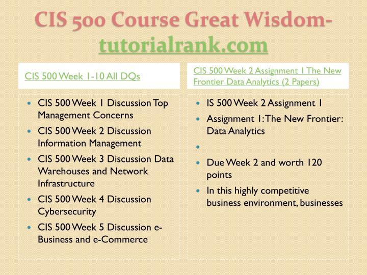 Cis 500 course great wisdom tutorialrank com2
