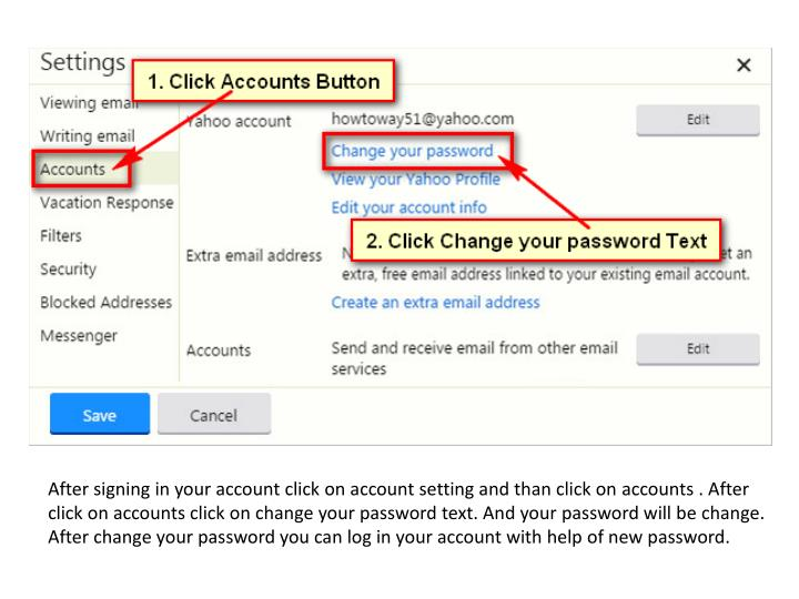 After signing in your account click on account setting and than click on