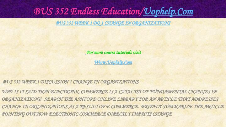 Bus 352 endless education uophelp com2