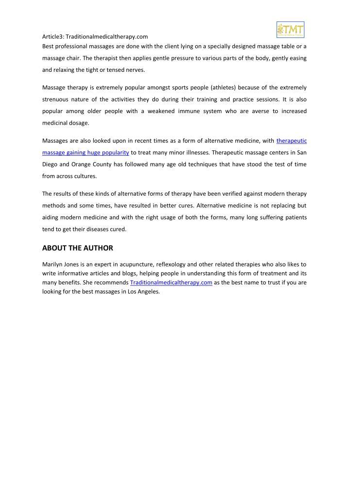 Article3: Traditionalmedicaltherapy.com                                                             ...
