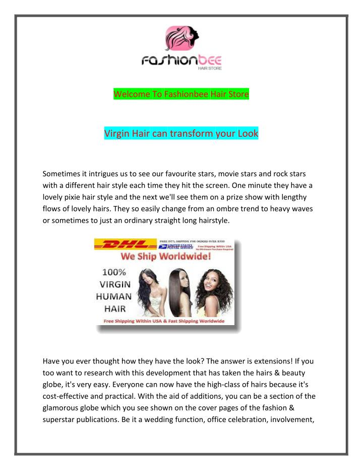 Welcome To Fashionbee Hair Store