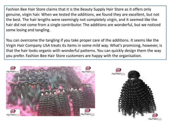 Fashion Bee Hair Store claims that it is the Beauty Supply Hair Store as it offers only genuine, vir...