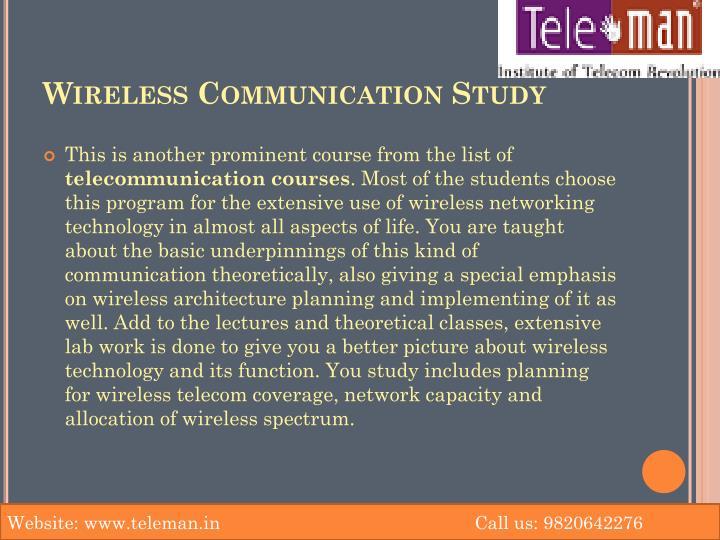 Wireless Communication Study