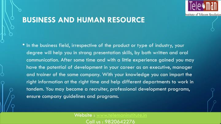 Business And Human Resource