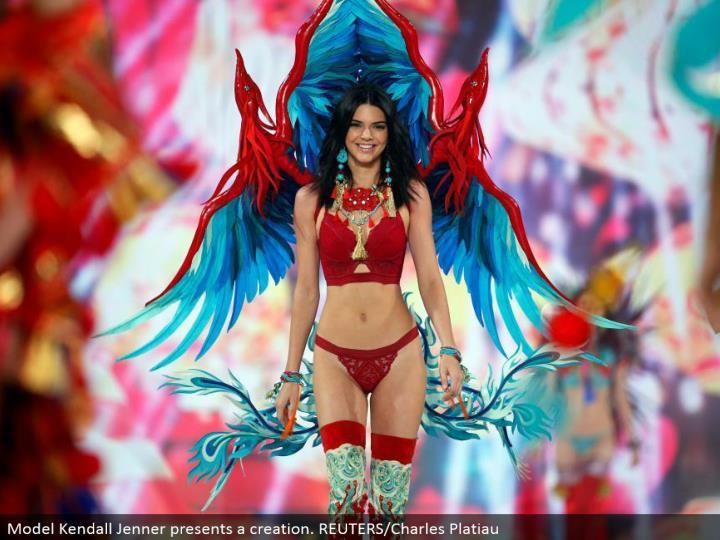Model Kendall Jenner displays a creation. REUTERS/Charles Platiau