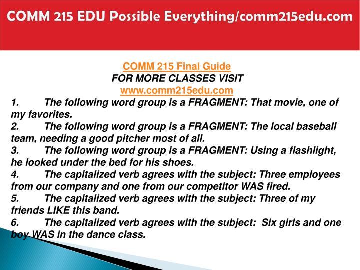 Comm 215 edu possible everything comm215edu com2