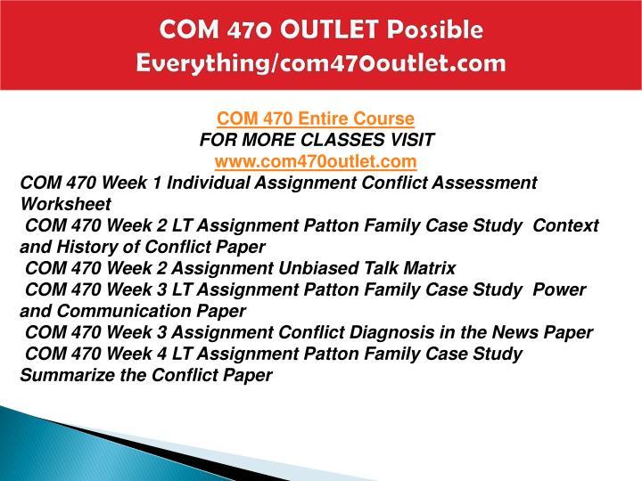 Com 470 outlet possible everything com470outlet com1