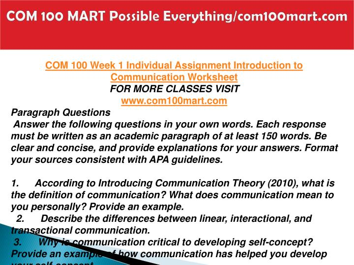 Com 100 mart possible everything com100mart com2