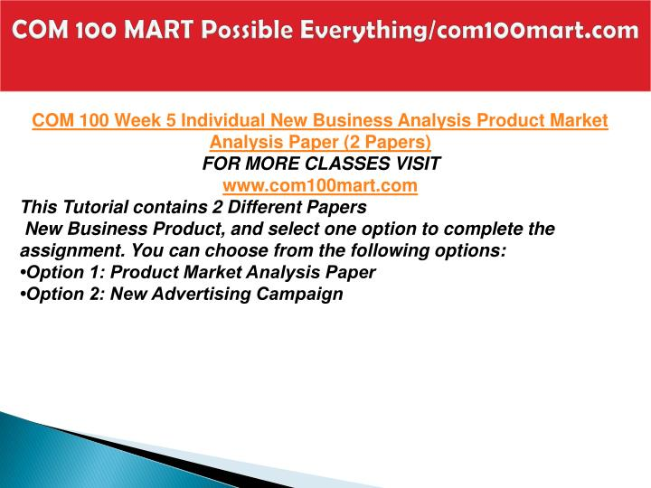 COM 100 MART Possible Everything/com100mart.com