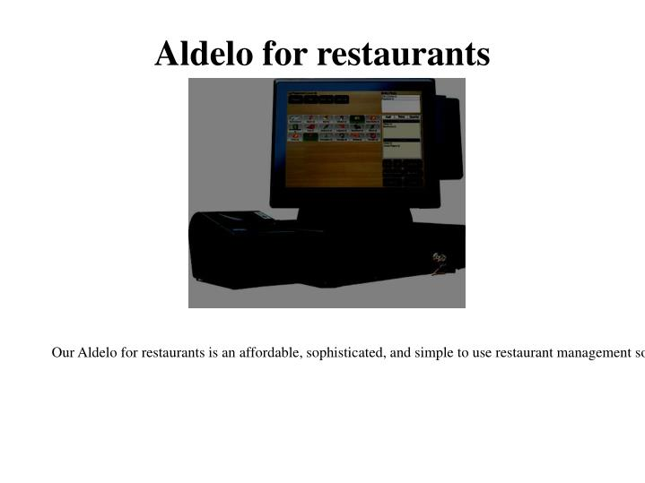 Aldelo for restaurants