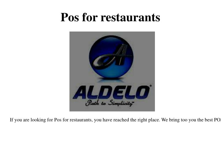 Pos for restaurants