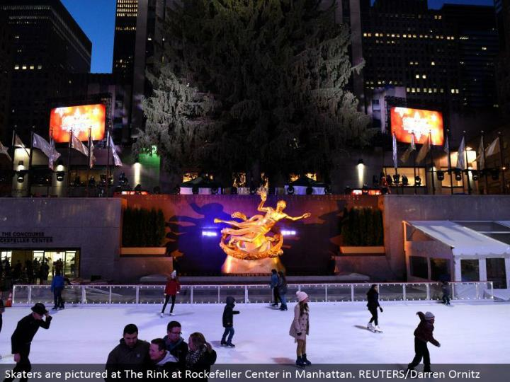 Skaters are envisioned at The Rink at Rockefeller Center in Manhattan. REUTERS/Darren Ornitz