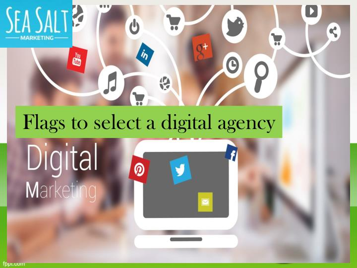 Flags to select a digital agency