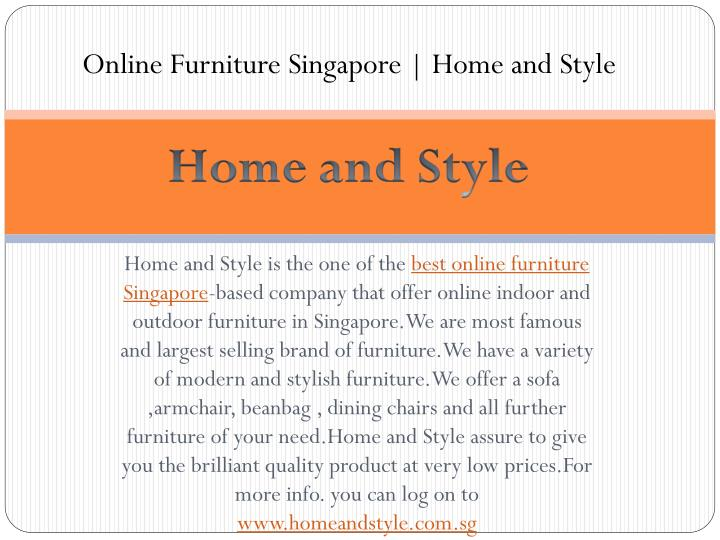 Online Furniture Singapore   Home and Style