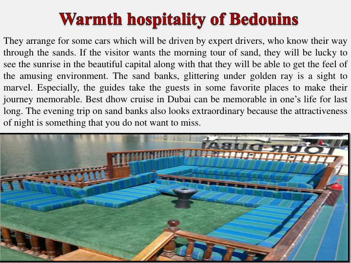 Warmth hospitality of Bedouins