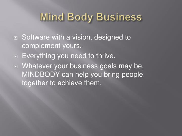 Mind body business
