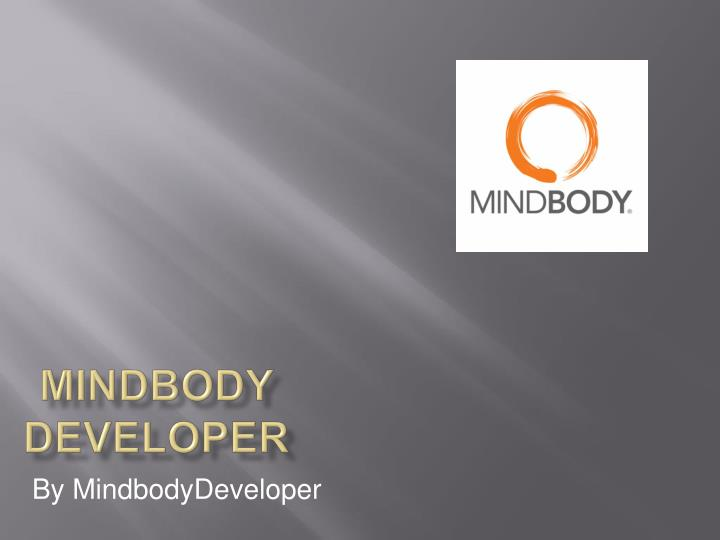 Mindbody developer