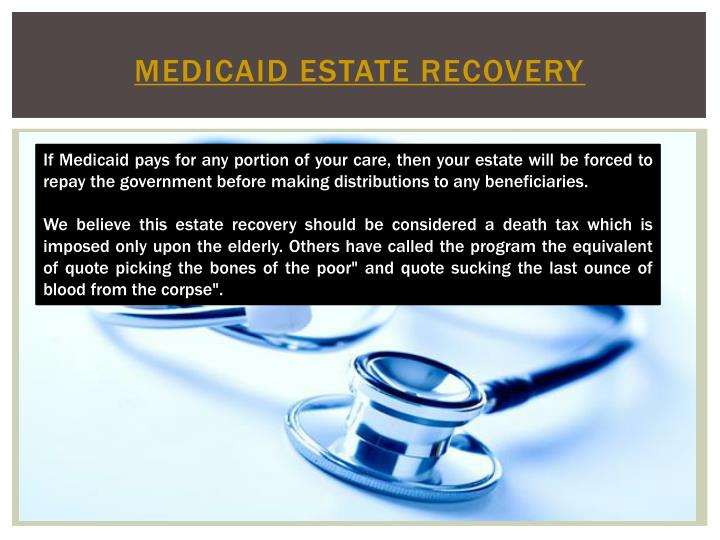 Medicaid estate recovery1