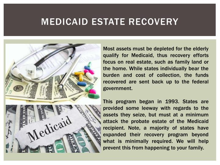 Medicaid estate recovery2