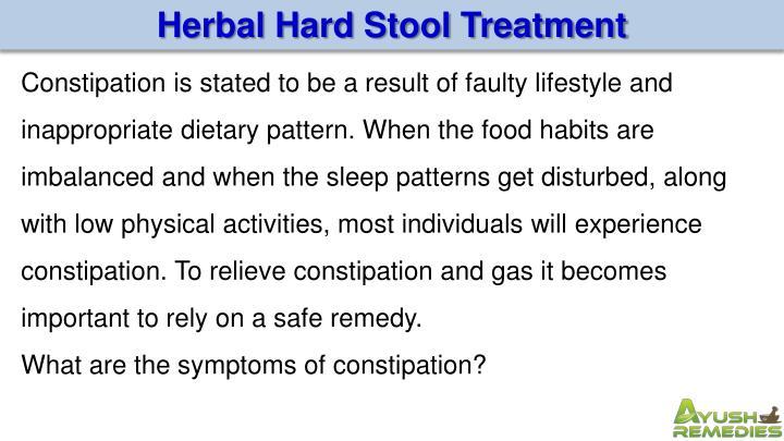 Herbal Hard Stool Treatment