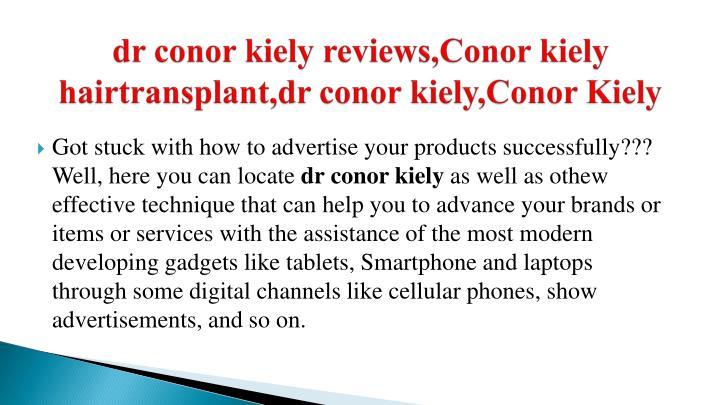 Dr conor kiely reviews conor kiely hairtransplant dr conor kiely conor kiely