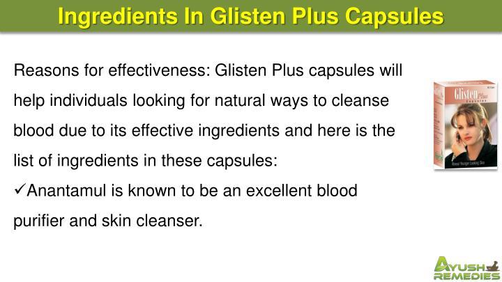 Ingredients In Glisten