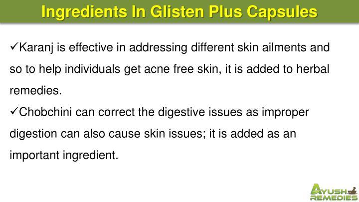 Ingredients In Glisten Plus Capsules
