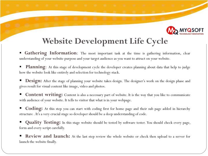Website Development Life Cycle