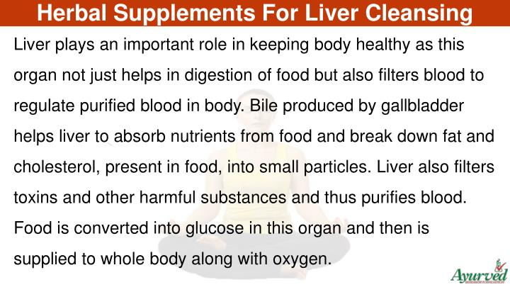 Herbal Supplements For Liver Cleansing