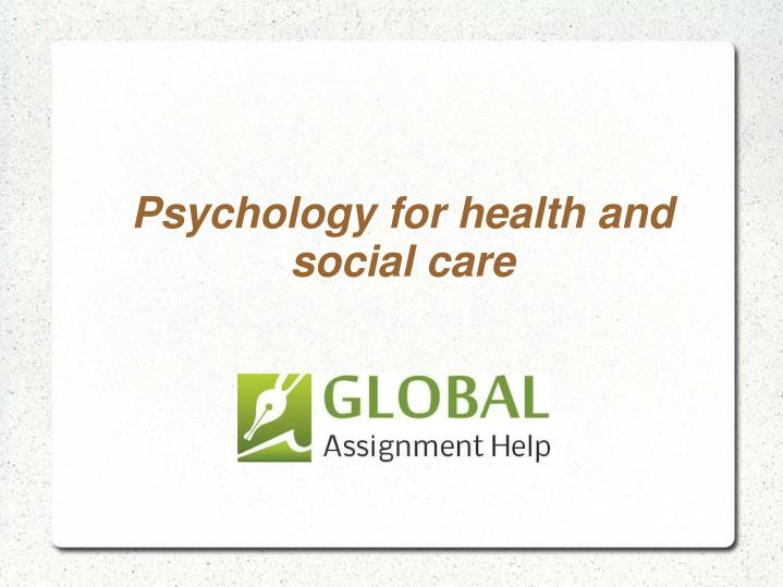 psychology for health and social care n.
