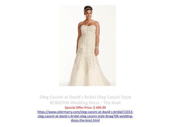 Oleg Cassini at David's Bridal Oleg Cassini Style 8CWG706 Wedding Dress - The Knot