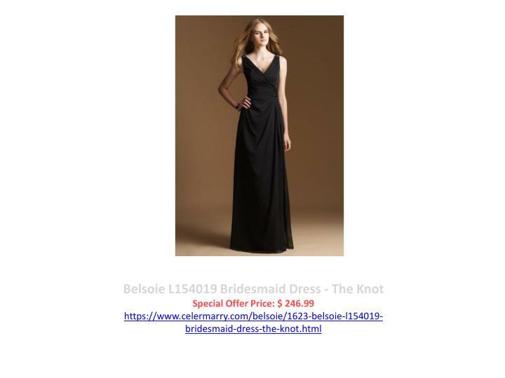 Belsoie L154019 Bridesmaid Dress - The Knot