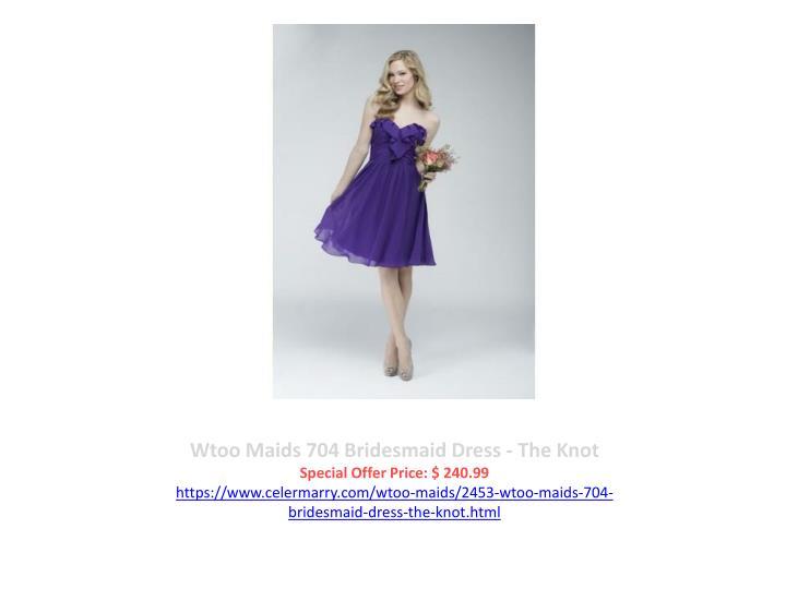 Wtoo Maids 704 Bridesmaid Dress - The Knot