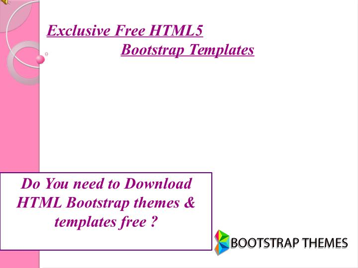 Exclusive Free HTML5