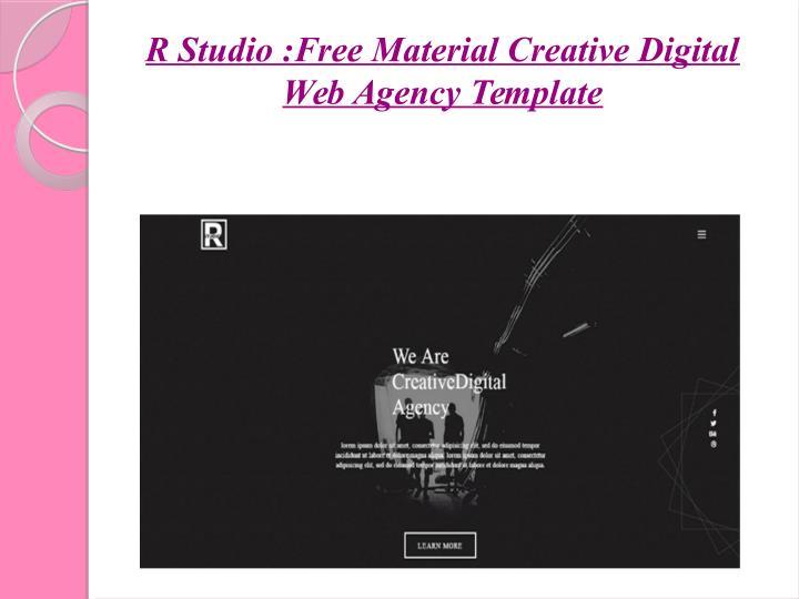 R Studio :Free Material Creative Digital