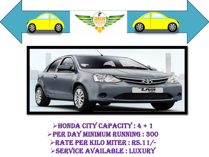 Honda City Capacity : 4 + 1