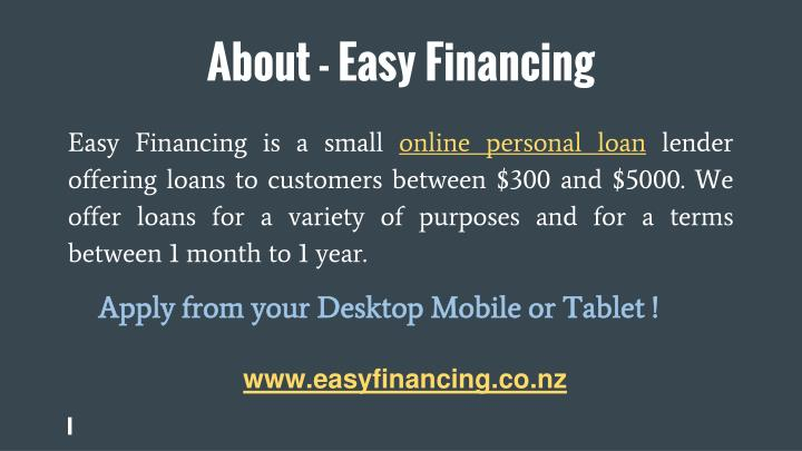 About easy financing